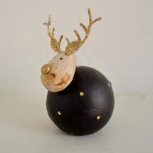 Round Midnight Reindeer Decoration - Small