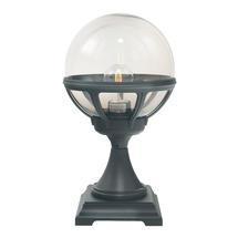 Bologna Pedestal Lantern Smoked - Black
