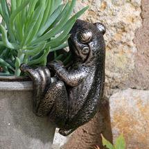 Frog Plant Pot Decoration