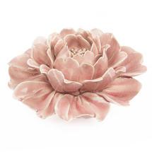 Ceramic Coral Rose Flower - Pink