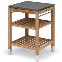 Pantry Small Work Table Teak/Stainless Steel