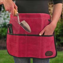 Pink Leather Tool Apron/Roll
