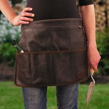 Chocolate Suede Tool Apron/Roll