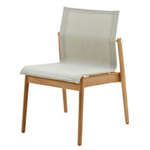 Sway Teak Stacking Chair White / Seagull Sling