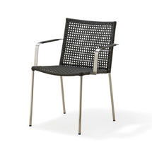 Straw Outdoor Dining Chair - Anthracite