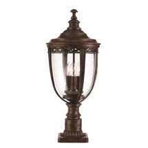 English Bridle Pedestal Lantern - Bronze