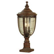 English Bridle Large Pedestal Lantern - Bronze