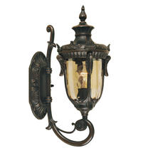 Philadelphia Outdoor Small Up Wall Lantern - Old Bronze