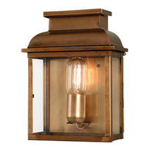 Old Bailey Flush Wall Lantern - Brass