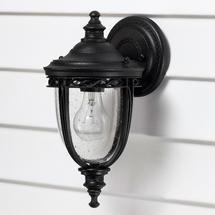 English Bridle Small Wall Lantern - Black