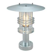 Stockholm Pedestal Lantern - Galvanised / Clear Lens