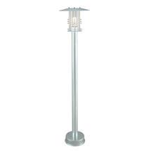 Stockholm Pillar Lantern - Galvanised / Clear Lens