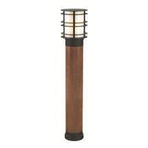 Stockholm Large Wooden Bollard Light - Black
