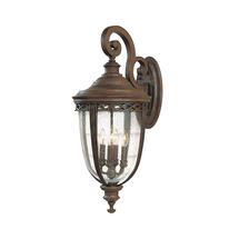English Bridle Extra Large Wall Lantern - Bronze