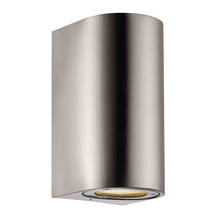 Canto Maxi Up/Down Wall Light - Stainless Steel