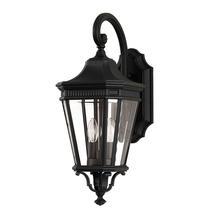 Cotswold Lane Medium Wall Lantern - Black