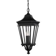 Cotswold Lane Large Hanging Lantern - Black