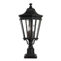 Cotswold Lane Medium Pedestal Lantern - Black