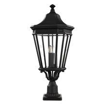 Cotswold Lane Large Pedestal Lantern - Black