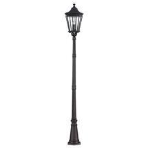 Cotswold Lane Pillar Lantern - Black